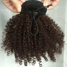$enCountryForm.capitalKeyWord Australia - women puff updo chingon Drawstring Ponytail natural style Kinky Curly Brazilian Virgin Hair Free Shipping,100% real Hair Ponytails extension