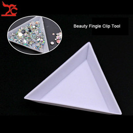 $enCountryForm.capitalKeyWord Canada - 10Pcs White Plastic Triangle Sorting Tray Gemstone Collection Storage Case Beads Crystal Nail Comestic Art Tool Tray Jewelry box 7*2.5 cm