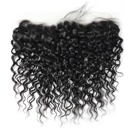 Brazilian hair lace frontal middle part online shopping - 8A Fashion Frontal Lace Closure Brazilian Peruvian Malaysian Virgin Hair Water Wave Free Part Unprocessed Virgin Hair Middle Brown Color
