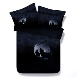purple bedding sets UK - 3D Wolf dolphin cat parrot elephant shark bedding sets queen christmas duvet cover single twin king cal king size bedspreads