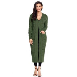 ff6cb1207d Fashion ladies sweater button ribbed sleeves in the long paragraph classic  style women s knit cardigan jacket casual wild was thin