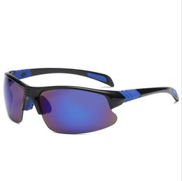 China The new type of outdoor polarizing sunglasses for driving and riding eyeglasses of the classic style of the blue film suppliers