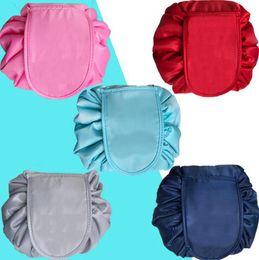 Lazy Cosmetic Bag Portable Beauty Drawstring Travel Makeup Bag Storage  Cosmetic Makeup Organizers Bathroom Bags OOA4378 8af8c9dcdeb91