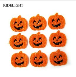 diy scrapbook gifts UK - 20PCS 3CM Halloween decoration pumpkin applique diy craft accessory scrapbook candy box gift bag accessory patch halloween