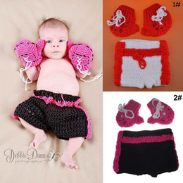 $enCountryForm.capitalKeyWord Australia - Fashion Newborn Cute Baby Photo Props Handmade Knitted Boxing Gloves and Pant Set Cartoon Infant Phography Shoot Accessory PZ062