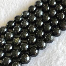Vente en gros Naturel Véritable Phlogopite Noire Biotite Ronde Perles Lisses Lisses 4mm 6mm 8mm 10mm 12mm 15.5