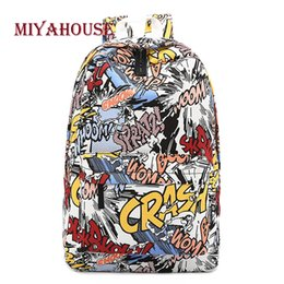 $enCountryForm.capitalKeyWord Canada - Miyahouse Colorful Cartoon Design Backpacks Women Canvas Shoulder School Bags For Girls High Capacity Travel Rucksack