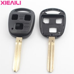 ToyoTa camry keys replacemenT online shopping - XIEAILI For Replacement Case Button Remote Key Fob Shell For Toyota Camry Reiz Prado Yaris Avensis With Sticker G22