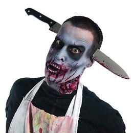 $enCountryForm.capitalKeyWord NZ - Halloween Decoration Horror Realistic Knife Bloody Machete Headband Halloween Party Supplies Props 2018 Funny Toys decor for Children Adult