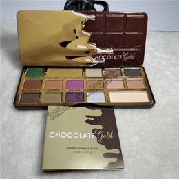 Discount water resistant gold - 16 colors metallic & matte eye shadow palette with chocolate sweet smell Chocolate Gold Eyeshadow Palette 100% real phot
