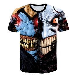 e27aad16711d 2018 New Style Men T-shirt 3d Print Zombie Clown 3d Tshirts Poker Anime Hip  Hop Summer Tops Tees Fashion
