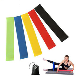 $enCountryForm.capitalKeyWord NZ - 5PCS Set Resistance Band fitness 5Levels Latex Gym Strength Training Rubber Loops Bands Fitness CrossFit Equipment
