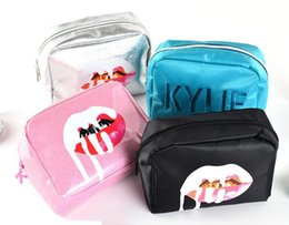 Discount kylie cosmetics lip kit - Kylie Jenner bags Cosmetics Birthday Bundle Bronze Kyliner Copper Creme Shadow Lip Kit Make up Storage Bag pink silver b