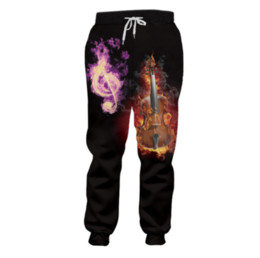 $enCountryForm.capitalKeyWord UK - Men flame guitar Sweatpants 3D printed Musical note purple new arrivals Pants Men Sportswear P23