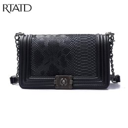 Discount luxury bags stones - RTATD New Brand Fashion Woman Crossbody Bag Promotional Ladies Totes luxury PU Leather Chain Shoulder Bag Plaid Women Ba