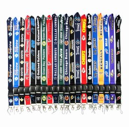 $enCountryForm.capitalKeyWord UK - Football Teams Lanyard Straps ID Card Badge Detachable Cell phone Lanyard Keychain For Xmas Gifts Wholesale
