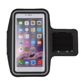 strip holders 2019 - Waterproof Running Jogging Sports Neoprene Armband Case Cover Holder with Reflective Strip for 6 Plus discount strip hol