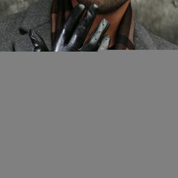 $enCountryForm.capitalKeyWord Australia - St.Susana 2018 Autumn Winter Black Genuine Sheepskin Leather Fashion MaleTouch Screen Gloves Men Cool Driving Gloves Mittens
