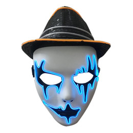 $enCountryForm.capitalKeyWord Australia - Halloween Cold Light Glowing Mask Holiday Ball El Cold Light Mask Performing Atmosphere Props Face Mask