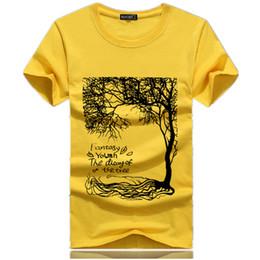 Chinese  Men's T-Shirts 2018 New Summer Brand O-Neck short sleeve T-shirt men fashion Tree print cartoon cotton Tee shirt men size S-4XL manufacturers