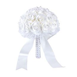 Blue Crystal Rhinestone Brooch Bouquet Brooches Dress Sash