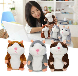 repeating toy animals NZ - Talking Hamster Talk Sound Record Repeat Hamster Stuffed Plush Animal Kids Child Toy Talking Hamster Plush Toys Christmas Gifts KKA2362