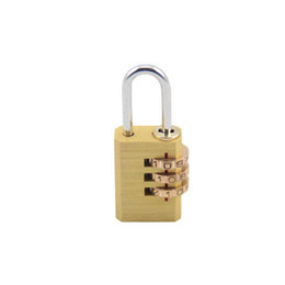 $enCountryForm.capitalKeyWord UK - Combination padlock 3 digits adjustable brass lock Drawer cabinet suitcase backpack zipper pull rod box Coded padlock DL_HPL003