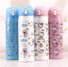 db894381c84 Drink bottle school online shopping - New cat cartoon Water Bottles thermos  cup female lovely stainless