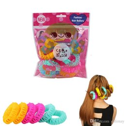 $enCountryForm.capitalKeyWord Australia - 8 Pcs Lot 6pcs Lot Magic Curler Hair Rollers Curls Roller Lucky Donuts Curly Hair Styling Make Up Tools Accessories For Woman Lady