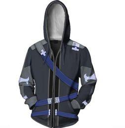 Chinese  Ordinal Scale Anime Kirigaya Kazuto Costume Sword Art Online Cosplay 3D Printed Mens Costume Hoodie coat jacket manufacturers