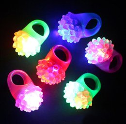 Discount flashing jelly rings - Flashing Bubble Ring Rave Party Blinking Soft Jelly Glow Strawberry luminescent ring Cool Led Light Up Event & Party Sup