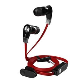 Auricolari JM02 Auricolari In-ear Stereo a filo piatto da 3,5 mm Hifi Auricolari con microfono per Samsung galaxys 7 8 9 iPhone 6 7 8s in Offerta
