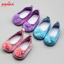 Shoes For American Girl Dolls Australia - 1pair super cute shoes for 18 inch American girl doll 43 cm BABY born Zapf doll intimate handmade accessories fashion shoes