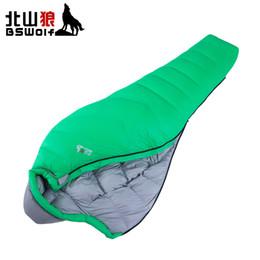 Discount sleeping bag duck - BSWolf New Type Ultralight Outdoor Adult Duck Down Sleeping Bag Camping Comfortably Sleeping Bag For Winter 400T Nylon S
