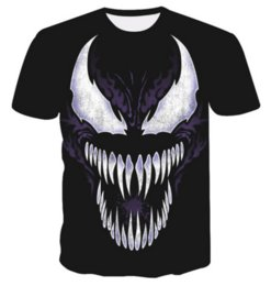 T-shirt Venom New Fashion Uomo Donna 3D Character T-shirt Maglietta casual T-shirt con stampa 3D Top DC014