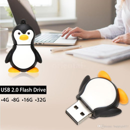 Professional Flash Drive NZ - New Professional Accessories Penguin Bird Animal 64GB USB 2.0 Key Ring Memory External Storage Stick Flash Drive U Disk u48