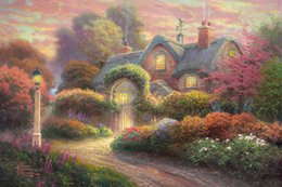 art canvas prints Australia - Thomas Kinkade Oil Painting art Landscape series Reproduction High Quality Giclee Print on Canvas Modern Home wall Art Decoration JHT1