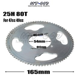 Engine Stroke Atv Australia - 25H 54mm 80 Tooth Rear Chain Sprocket For 2 Stroke 47cc 49cc Engine Chinese Mini ATV Quad 4 Wheeler Pocket Bike Scooter Goped