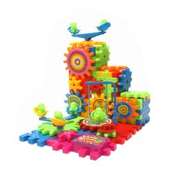 $enCountryForm.capitalKeyWord Canada - Plastic Assembled Building Blocks Bricks Changeable Pattern Children Electric Rotary Toy Kid Science Education