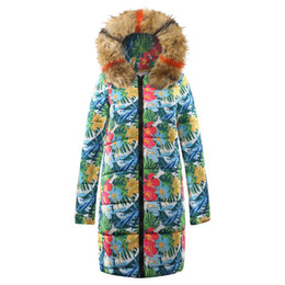 $enCountryForm.capitalKeyWord UK - Women Jackets Coats Warm Fur Collar Hooded Long Down Coats Outerwear Print Casual Parkas Winter Clothes