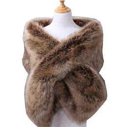 $enCountryForm.capitalKeyWord UK - 2019 New Warm Faux Fox Fur Bridal Shawl Fur Wraps Marriage Shrug Bride Winter Wedding Party Boleros Burgundy Black White Blush