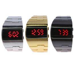 $enCountryForm.capitalKeyWord UK - LED Display Digital Wristwatches Alloy Band Men Business Watches Sport Backlight Wrist Watch
