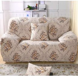 $enCountryForm.capitalKeyWord NZ - Spandex Stretch Beige Flower Sofa Cover Big Elasticity 100% Polyester Loveseat Sofa Furniture Cover Slipcover Protector