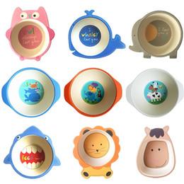 $enCountryForm.capitalKeyWord NZ - Natural Bamboo Fiber Bowls Cute Cartoon Baby Dishes Baby Feeding Tableware Children Infant Toddler Portable Environmental Plate