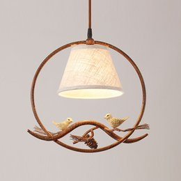 pendant lamp hallway light NZ - OOVOV American Retro Dining Room Pendant Lights Creative Bird Bar Cafe Pendant Lamp Hallway Balcony Hanging Light