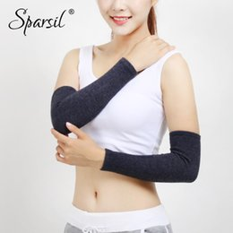 Reliable Sparsil Unisex Woolen Knitted Arm Warmers Elastic Warm Gloves Autumn Winter 40cm Thick Wrist Elbow Joint Protector Long Sleeve Men's Arm Warmers Apparel Accessories