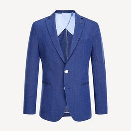 70661c1dae6 Trajes casuales para hombres Telas de algodón de lujo Trajes de hombre  delgados Dos botones Vestidos de banquete de boda Chaquetas para hombres  Caballeros