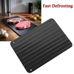 Vassoio di scongelamento rapido Cucina con scongelamento Il modo più sicuro per sbrinare la carne Prodotti surgelati Stuoia di alluminio in metallo Utensili da cucina AAA152 in Offerta