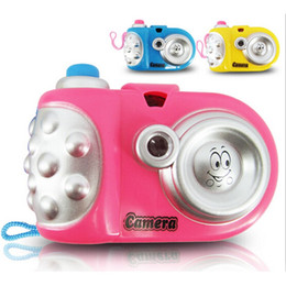 Children Toy Camera Australia - Baby Kids Projection Camera Toy Fun LED Light Projection Animal Cartoon Pattern Educational Learning Toys Children Random Color