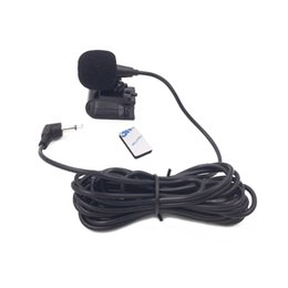 Wholesale Gps Radio UK - Do Promotion! Newest 3.5mm Car Radio Stereo Microphone Bluetooth Vehicle External Mic for GPS Player Enabled Audio DVD